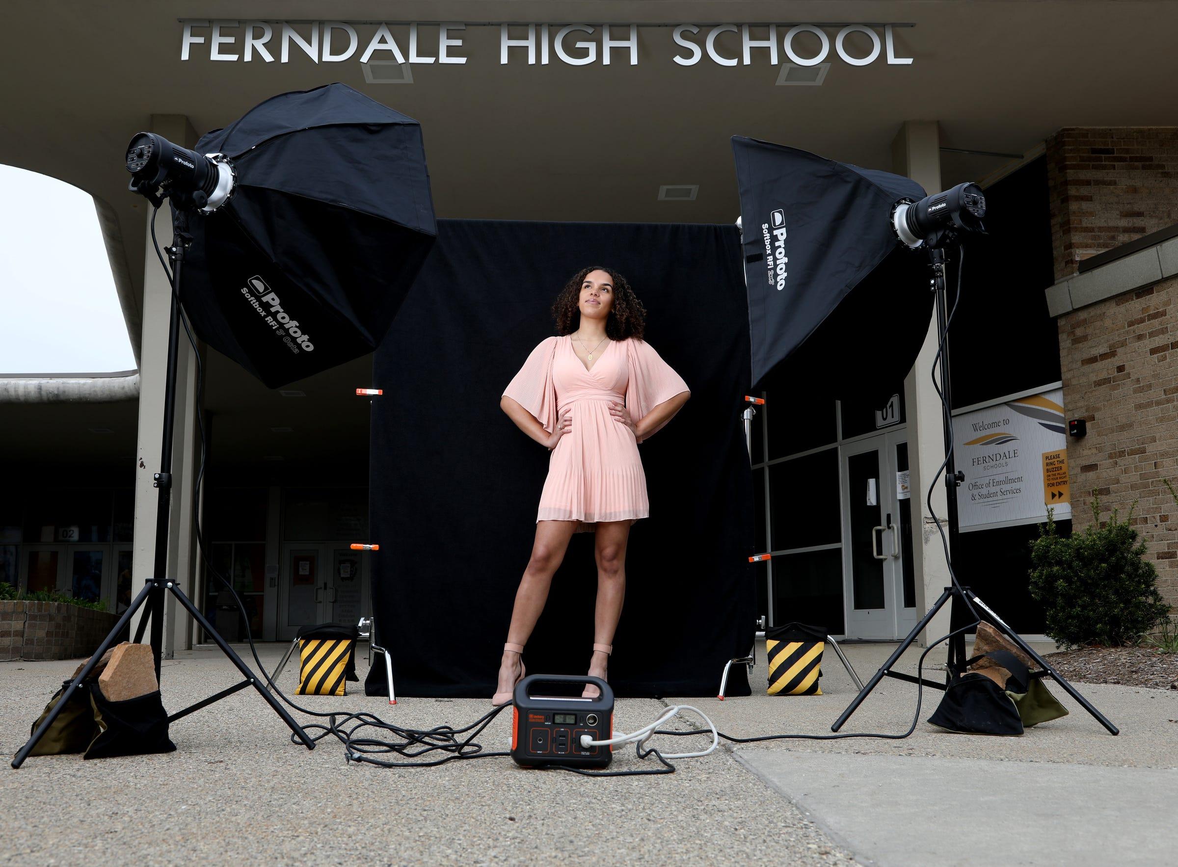 Kyra Newman, a senior at Ferndale High School  in Ferndale, Michigan.
