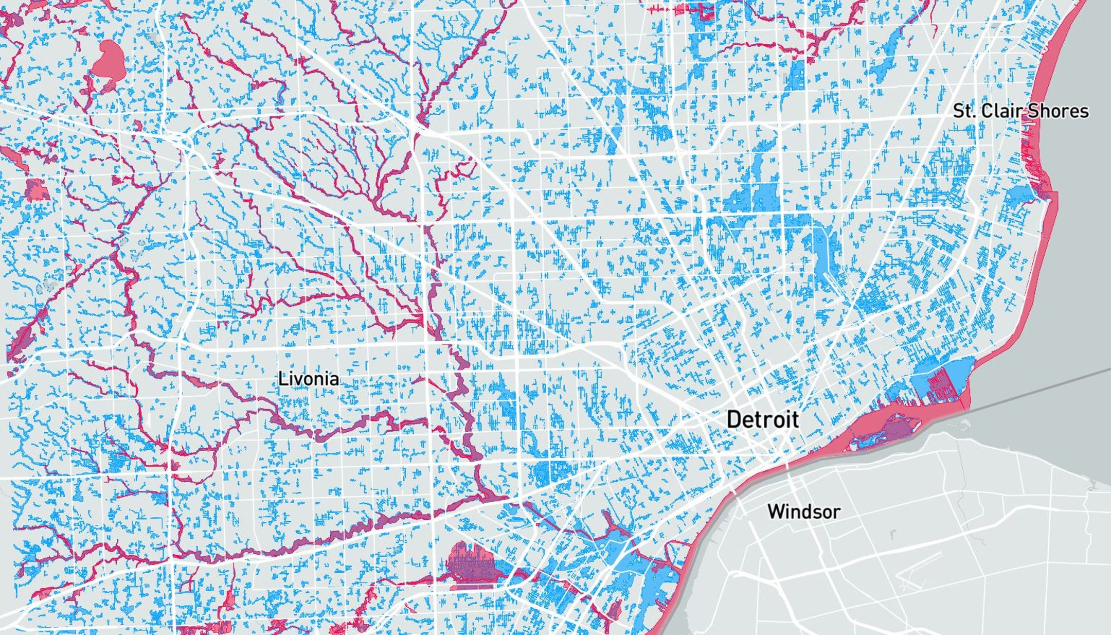 Study Maps Flood Risk For Michigan Homes Every Us Parcel