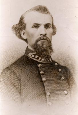 Old portrait of Nathan Bedford Forrest
