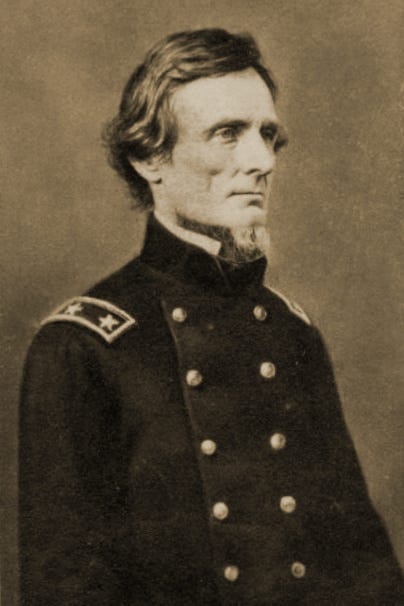 Old portrait of Jefferson Davis