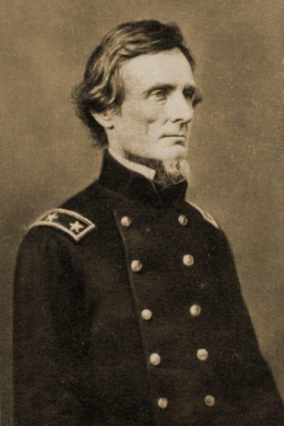 Old portrait of Jefferson Davis