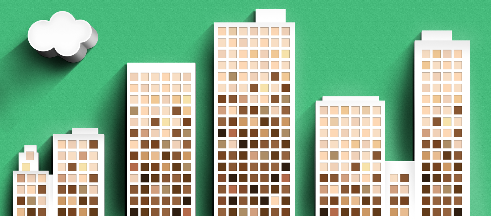 Corporate diversity illustration