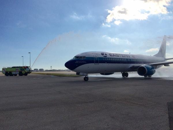 An Eastern Airlines Jet. (Courtesy Miami International Airport)