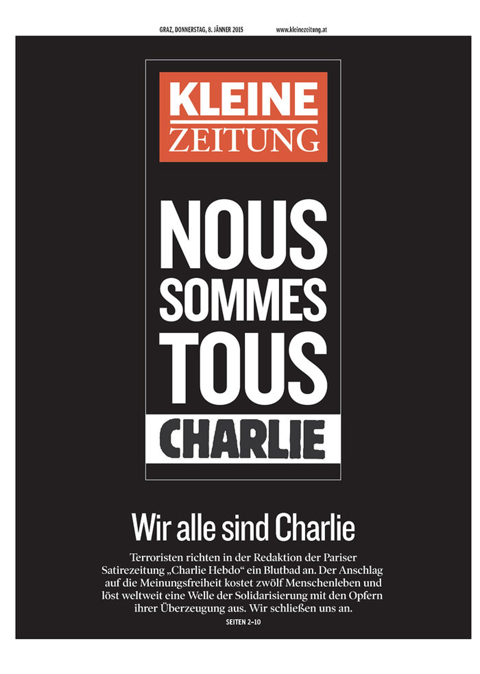 Paris Terror Attack Front Pages From Around The World
