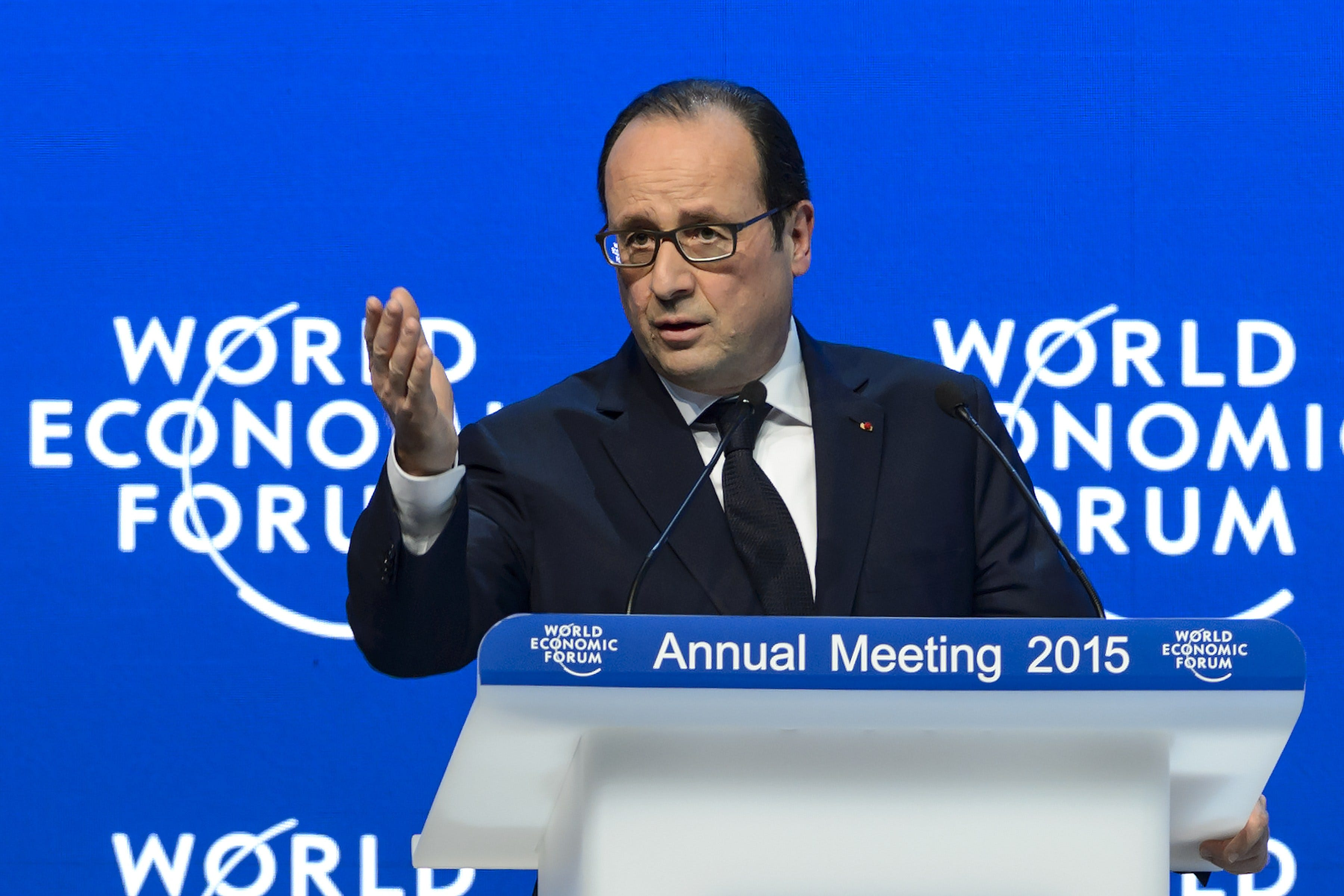 French president urges business to help fight terrorism