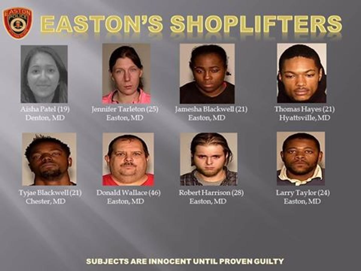 Facebook used to shame shoplifters in Easton Md