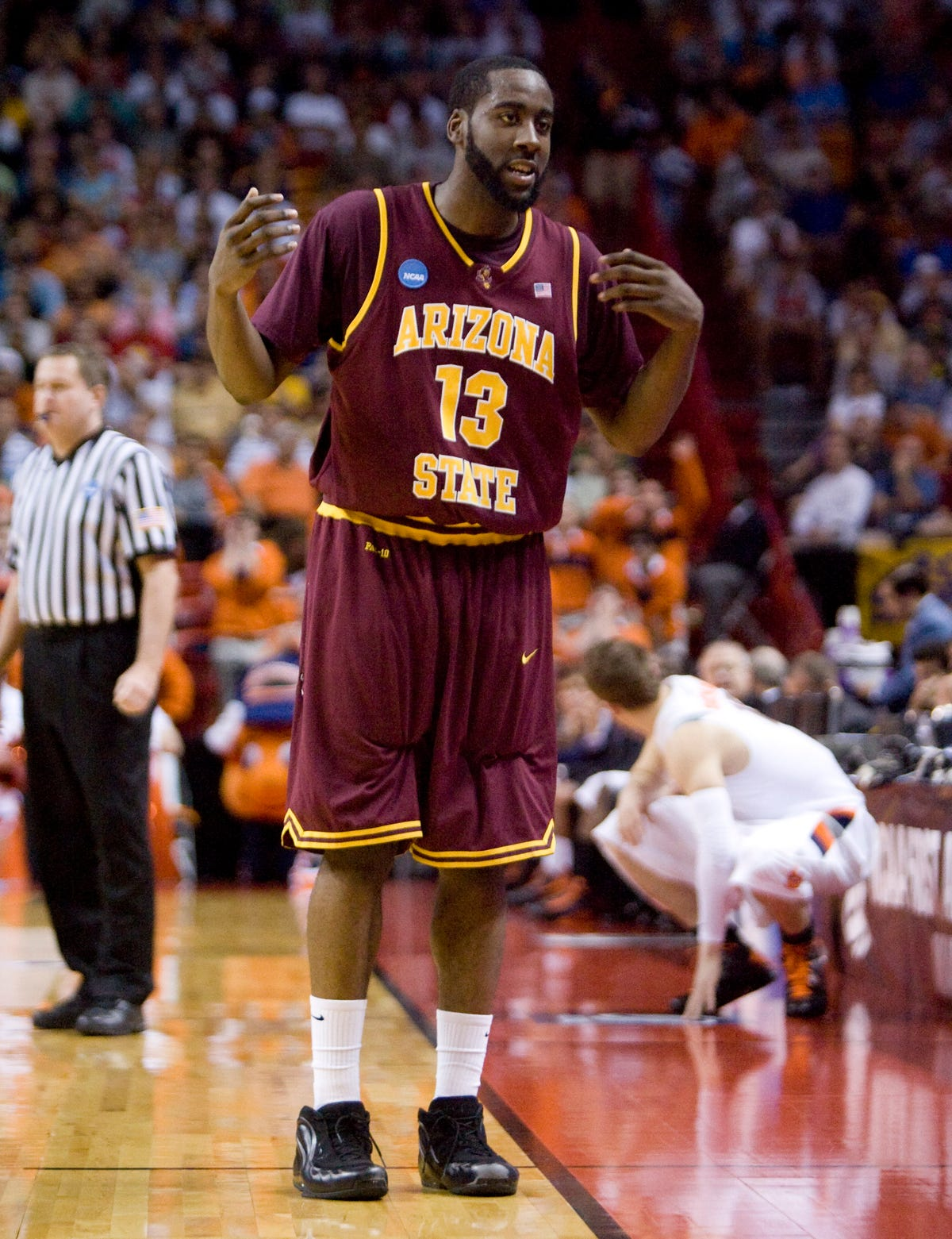new products eb66d 57abd James Harden reflects on ASU maturation with number ceremony