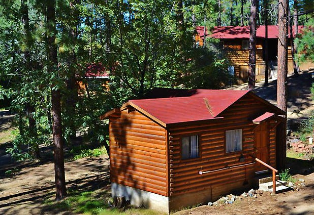 Cabins at Friendly Pines Camp in Prescott.