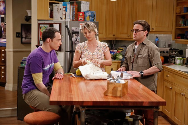 Kaley Cuoco, center, reached the same $1 million-per-episode payday as her male co-stars Jim Parsons, left, and Johnny Galecki during the 12-season run of 'The Big Bang Theory.'