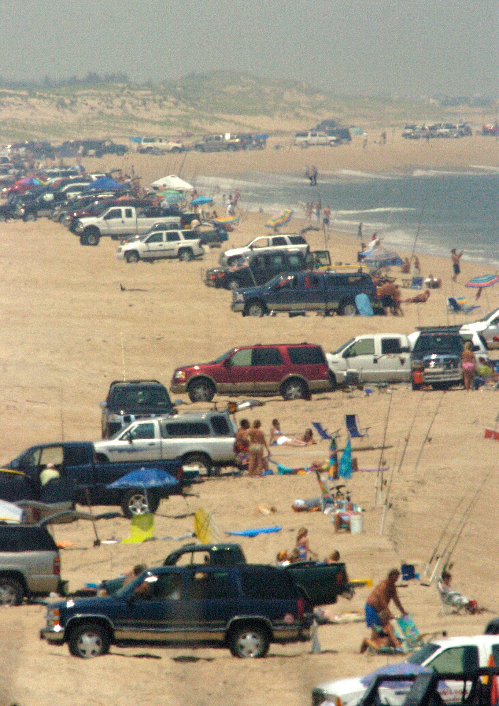 Fake surf fishing turning Delaware's beaches into parking lots, critics say