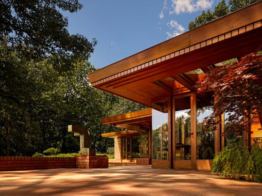 In the picture: the Melvyn Maxwell Smith House in Bloomfield Hills. Fans of the work of famed architect Frank Lloyd Wright will have a rare chance to tour the only three houses he designed in the Detroit area on Sunday, June 7, 2015 the day before the architect's birthday. Lawrence Technological University College of Architecture is sponsoring the tour of the Gregor and Elizabeth Affleck House and the Melvyn Maxwell Smith House in Bloomfield Hills and the Dorothy H. Turkel House in the Palmer Woods section of Detroit. Picture received from LTU May 15, 2015.