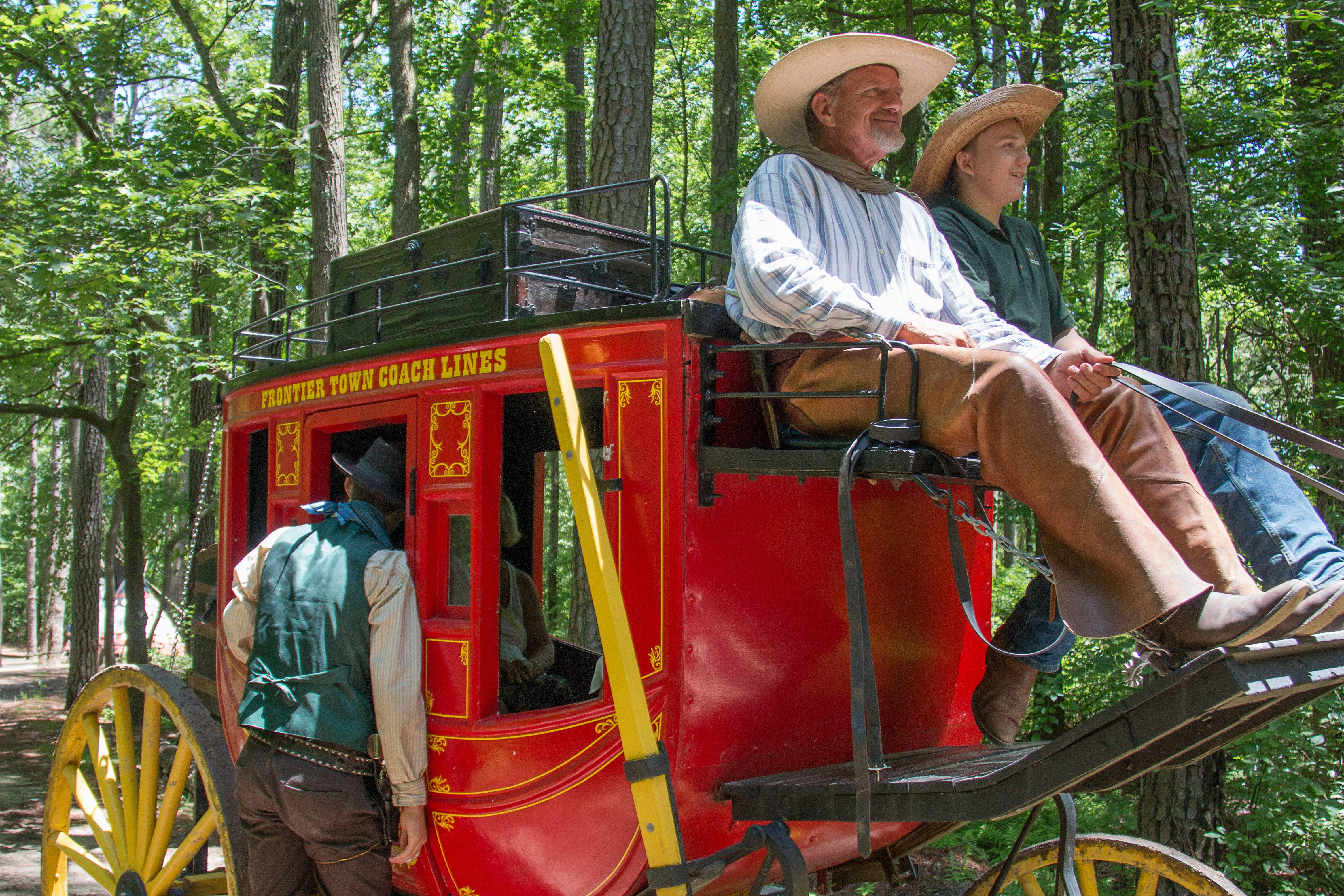 A stage coach gets robbed as Frontier Town hosts their Frontier Day Celebration Sunday, June 7 in West Ocean City.