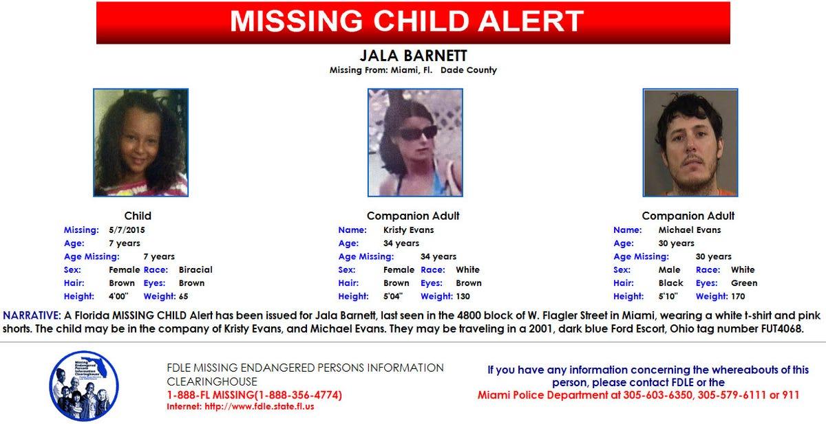 Missing Child Alert canceled for Miami girl