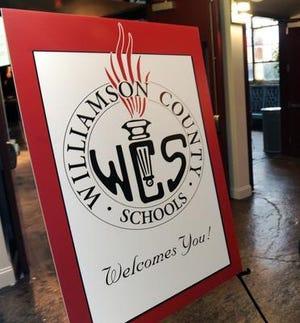 A Williamson County Schools sign.