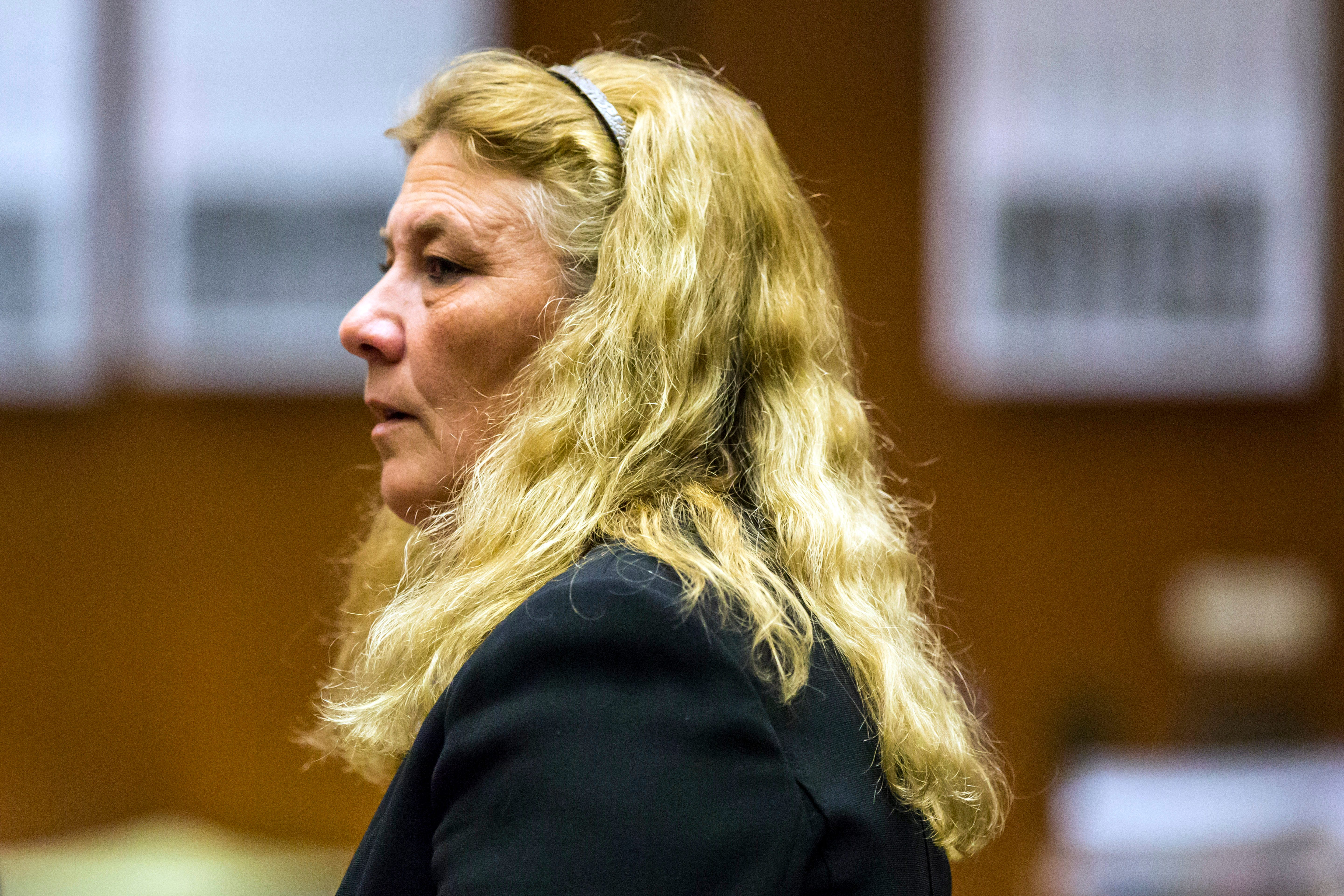 Mary O'Callaghan, seen here June 5, 2015, after being convicted of assault under color of authority, was sentenced July 23, 2015, to 36 months for hitting and kicking Alisha Thomas in July 2012. Thomas later died. The judge suspended 20 months of O'Callaghan's sentence.