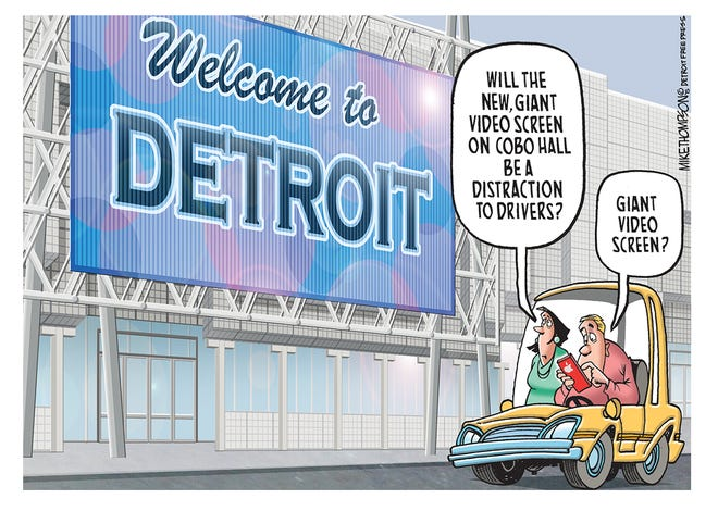 Like Detroit drivers need another distraction.