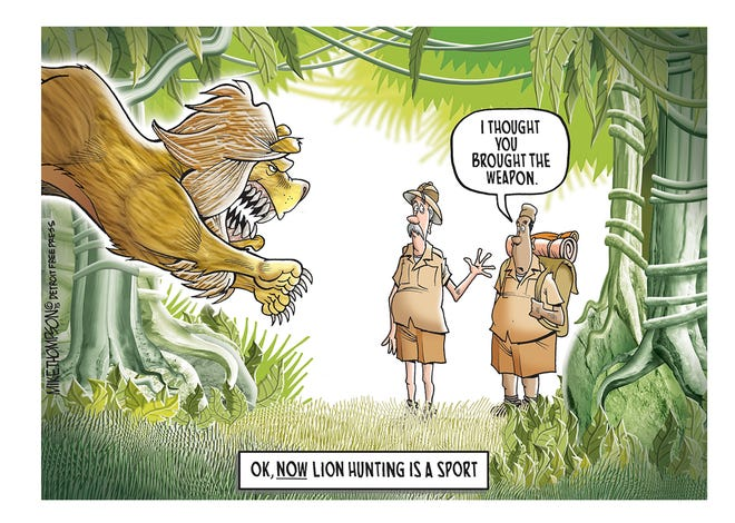 """How to improve the """"sport"""" of lion hunting after the death of Cecil."""