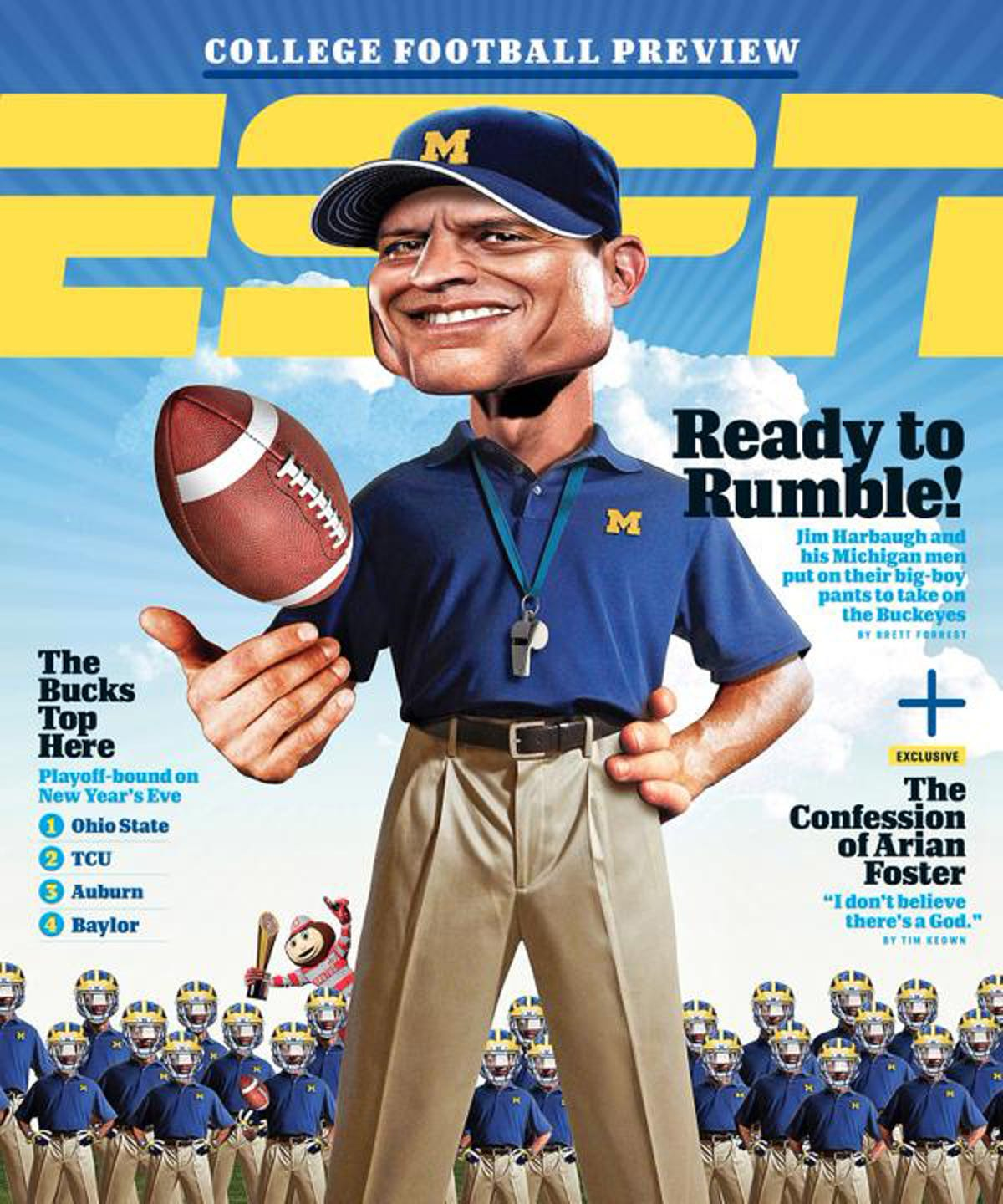 Surprise! Harbaugh on cover of ESPN preview magazine