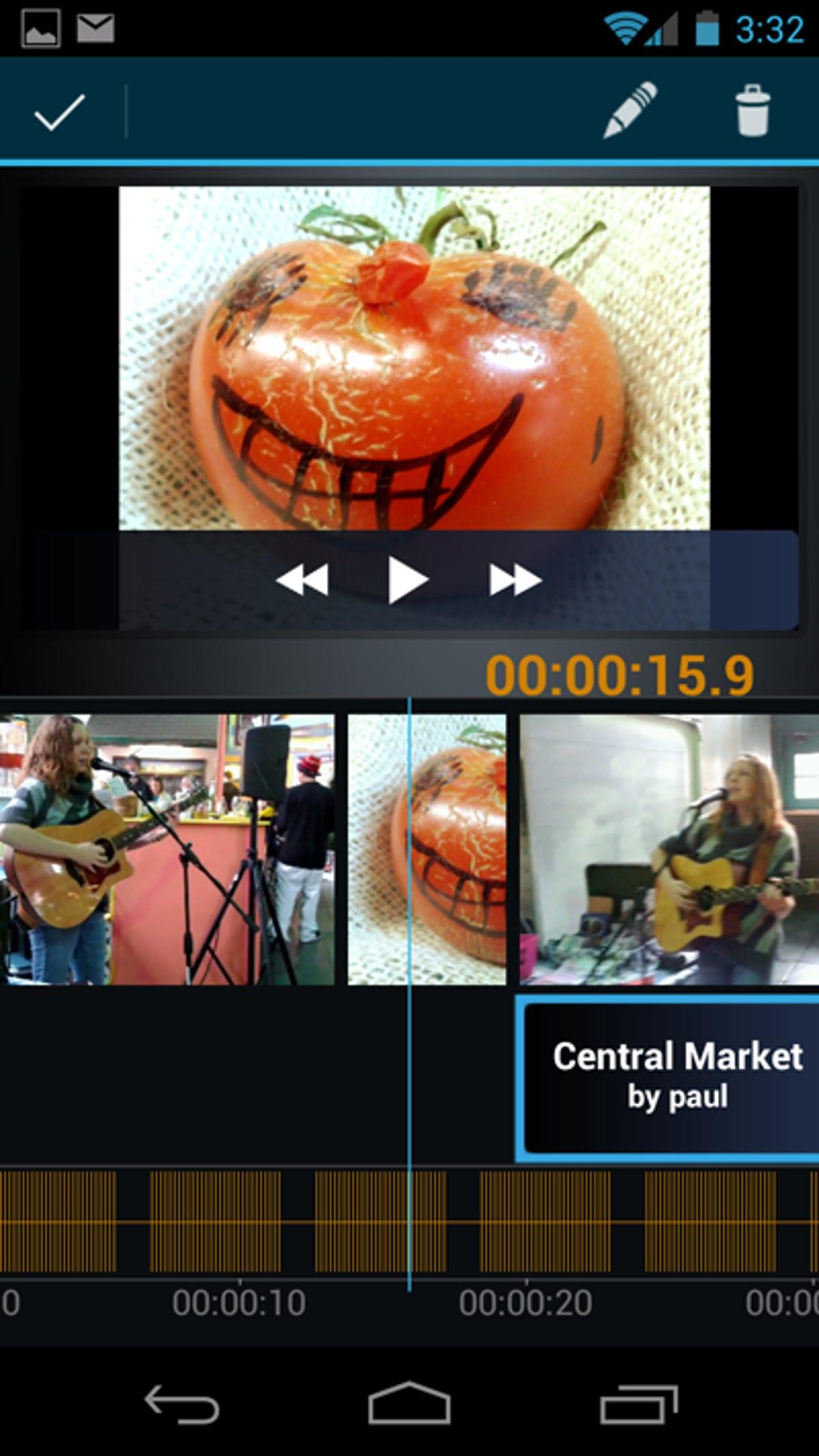 Samsung Galaxy Nexus Video built in video editing - Movie Studio
