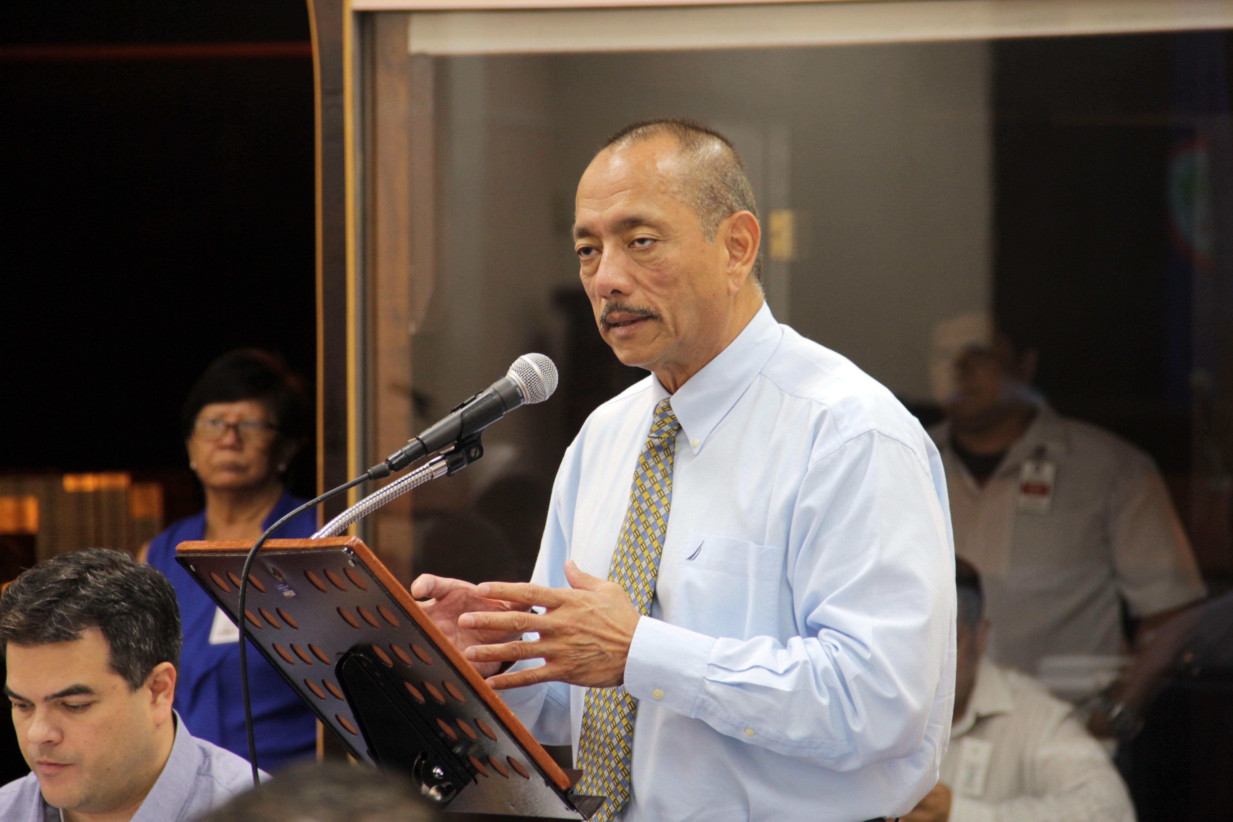 Vice Speaker Benjamin Cruz, D-Piti, speaks at the Guam Legislature in April.