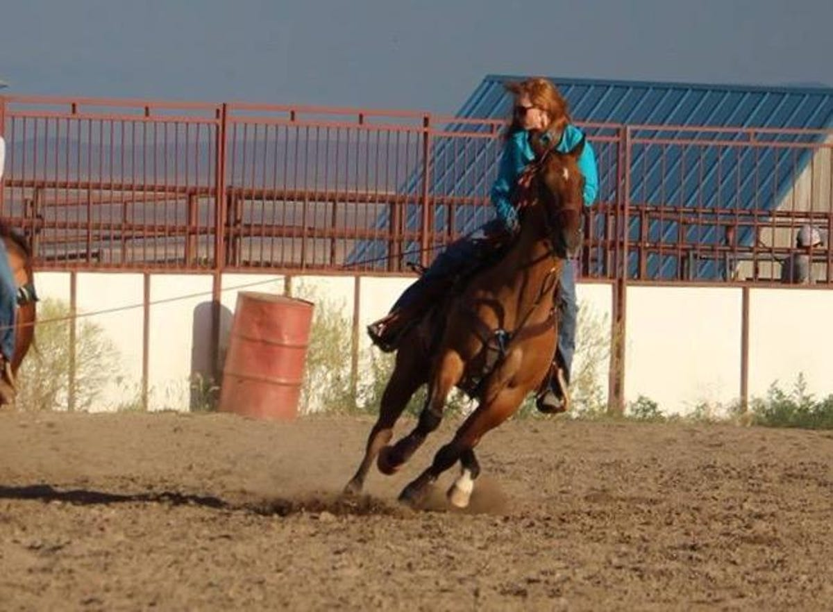Female team roper says the sports gives her a workout
