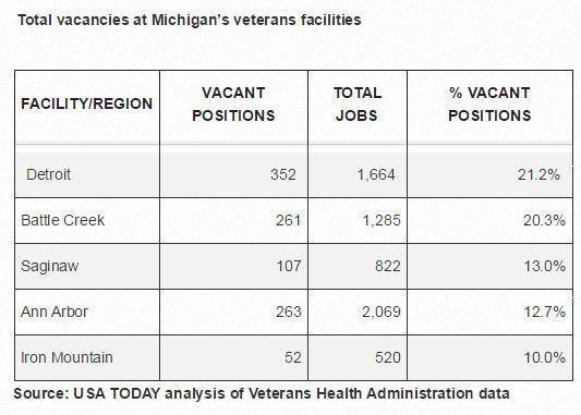 Medical Care For Vets How Does Michigan Rank
