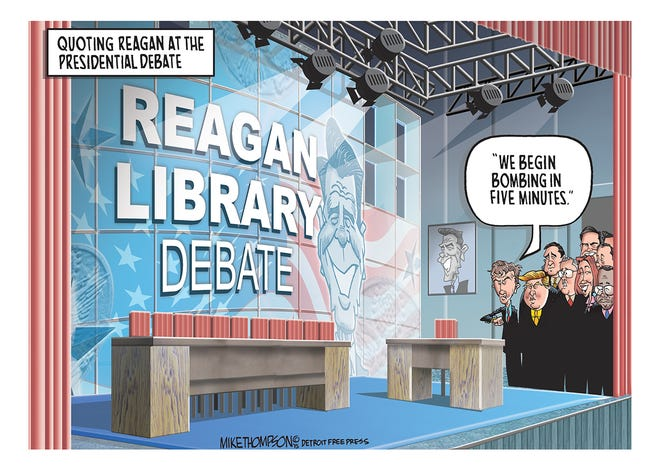 The Republican presidential candidates square off at the Reagan Library!