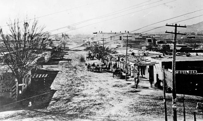 El Paso is shown in a photo from the Alexander collection with an estimated date of 1881.