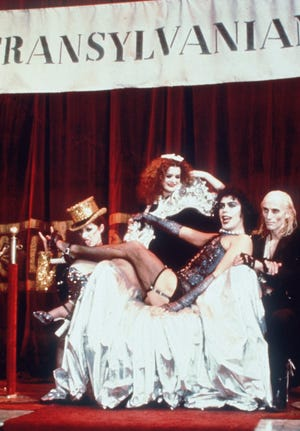 Nell Campbell (from left), Patricia Quinn, Tim Curry and show creator Richard O'Brien reprised their roles from the original 'Rocky Horror' stage show for the 1975 movie.