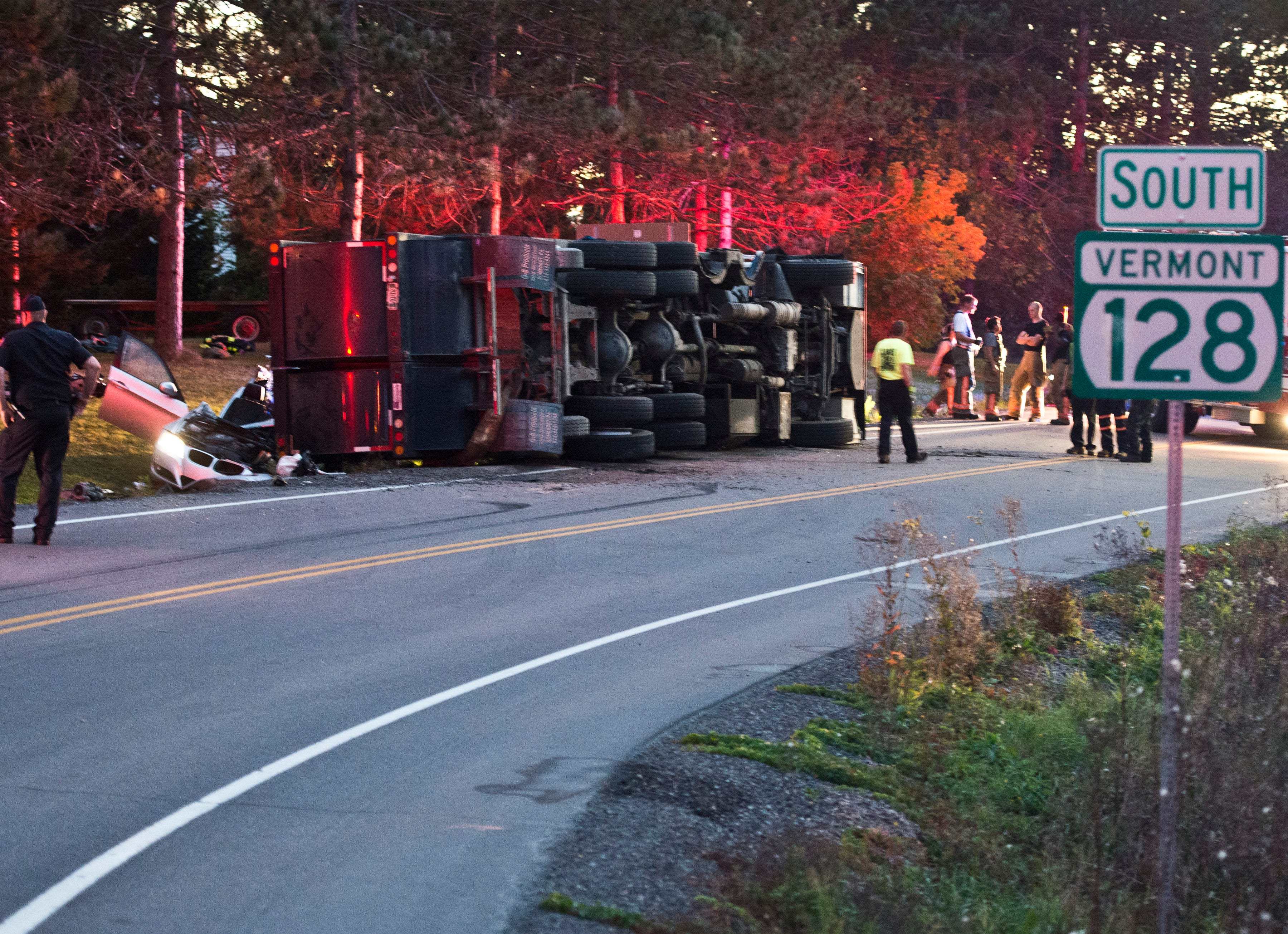 One injured in essex garbage truck crash for Vermont department of motor vehicles south burlington vt
