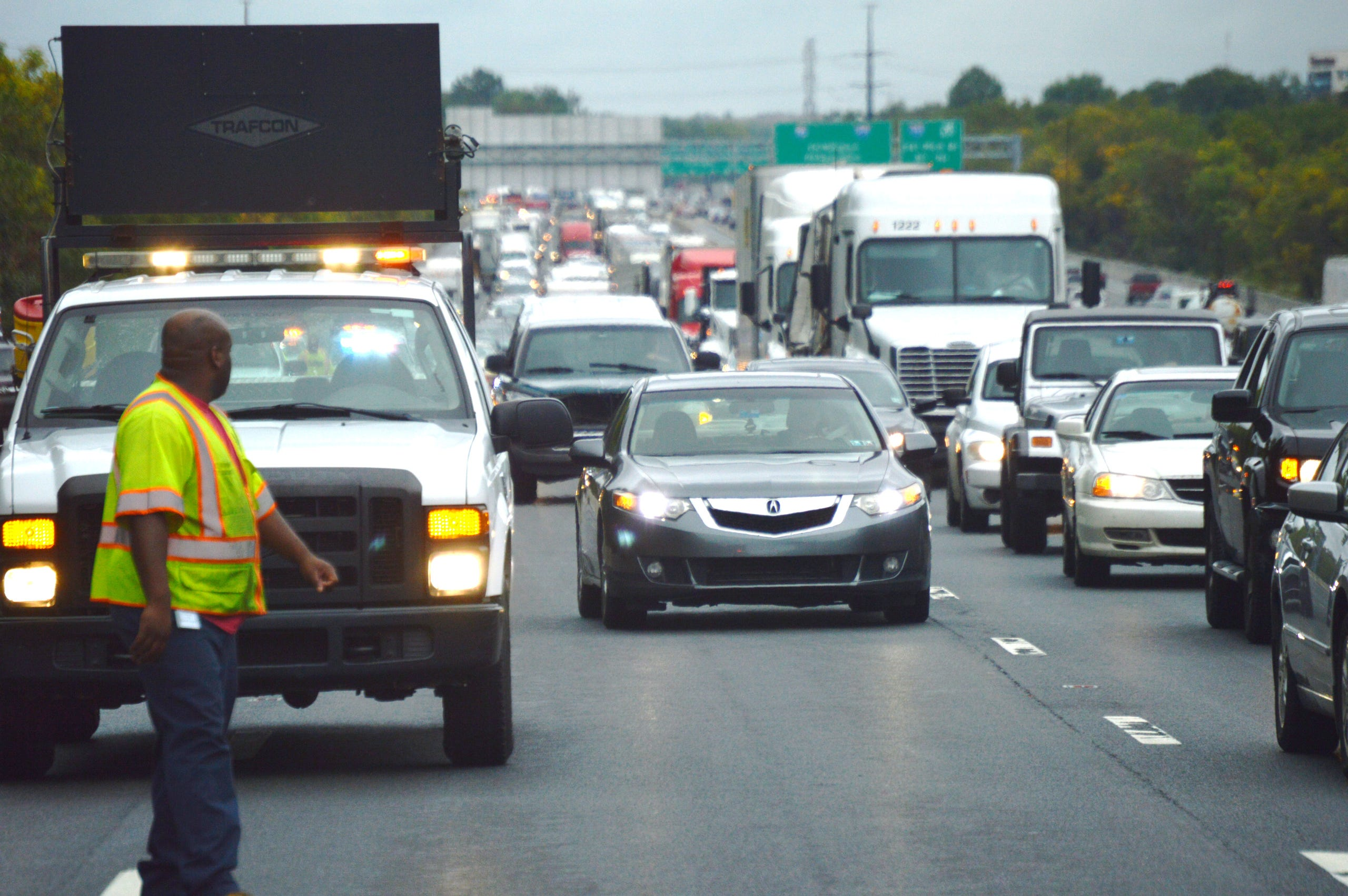 Racing fuel spill on I-95