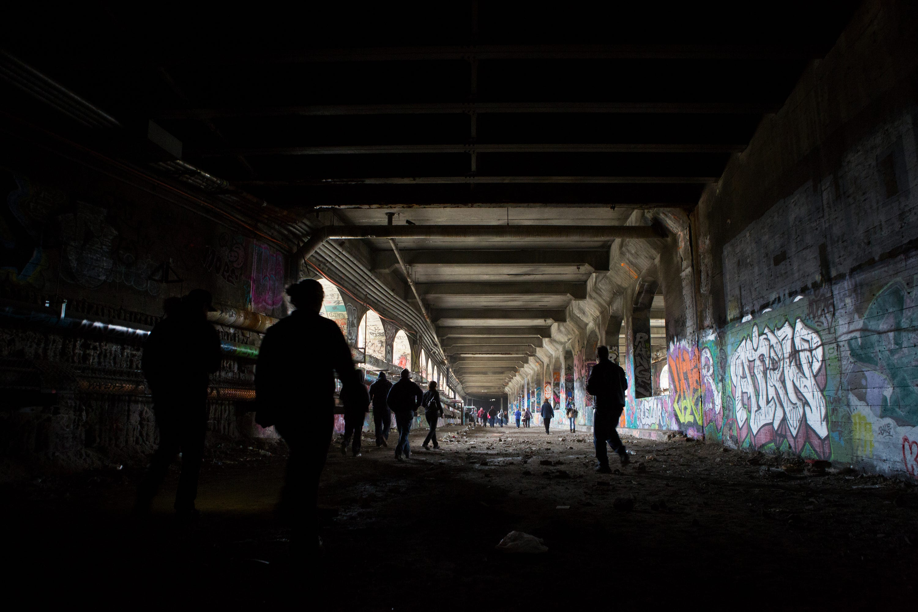 """The abandoned subway has become a """"cultural underground,"""" drawing both artists and the curious beneath Rochester's streets."""
