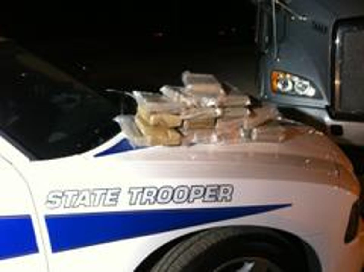 Semi truck driver arrested for transporting 20 Kilos of cocaine