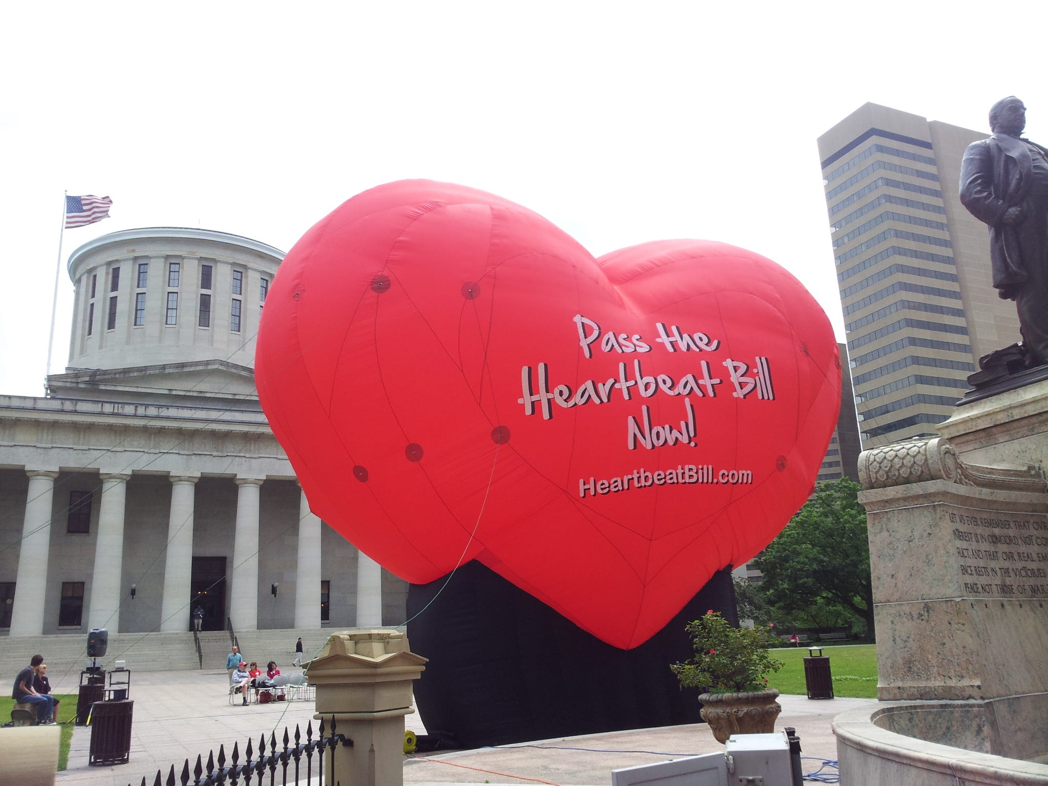 A large balloon outside the Ohio Statehouse in 2012 showed support for the Heartbeat Bill.