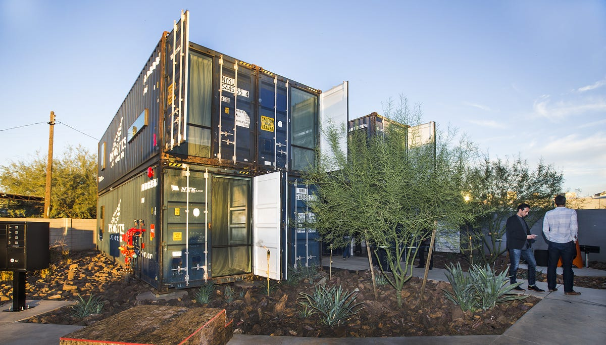 Remarkable 1St Shipping Container Apartments In Phoenix Open For Viewing Home Remodeling Inspirations Propsscottssportslandcom