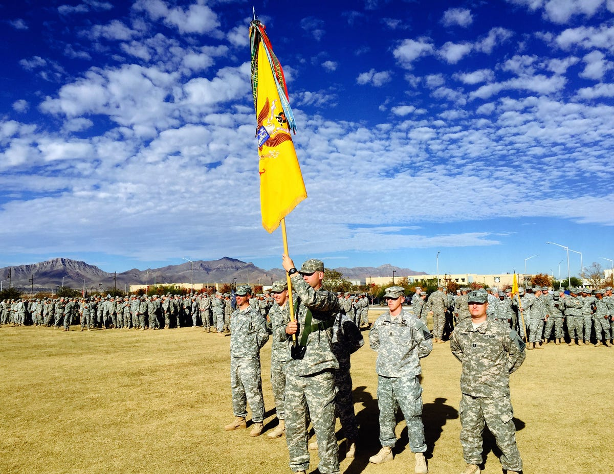 1-77 Armor gets combat patches for Africa deployment