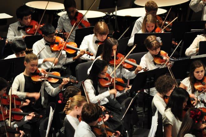 The Salem Youth Symphony photographed at a pre-COVID performance.