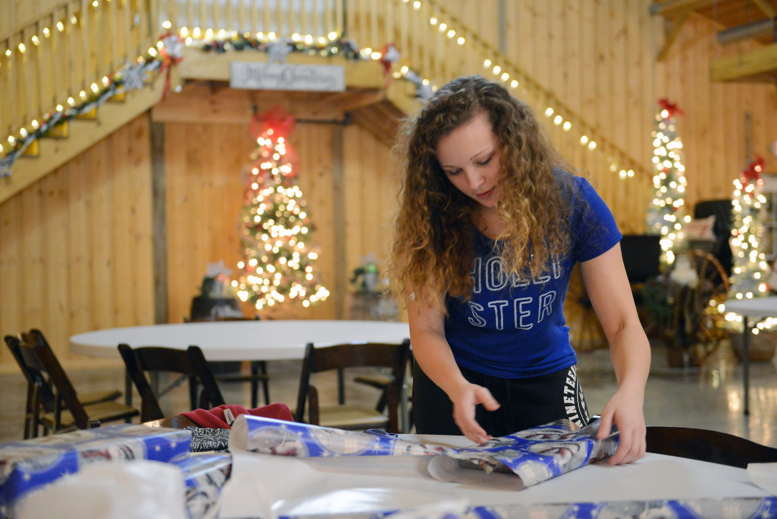 zhs students wrap gifts for families in need zanesville times recorder