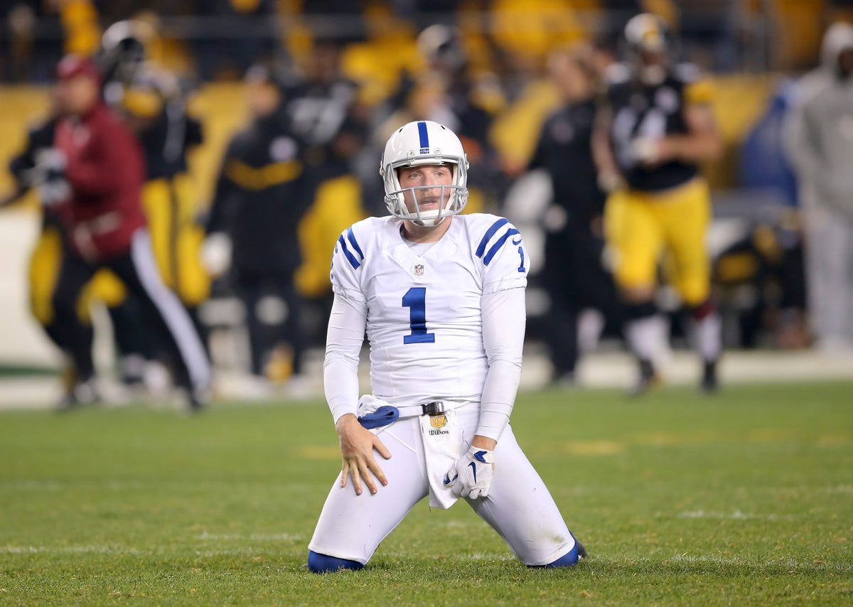 low priced 1a9bc acda7 Pat McAfee, Colts shut out of 2016 Pro Bowl
