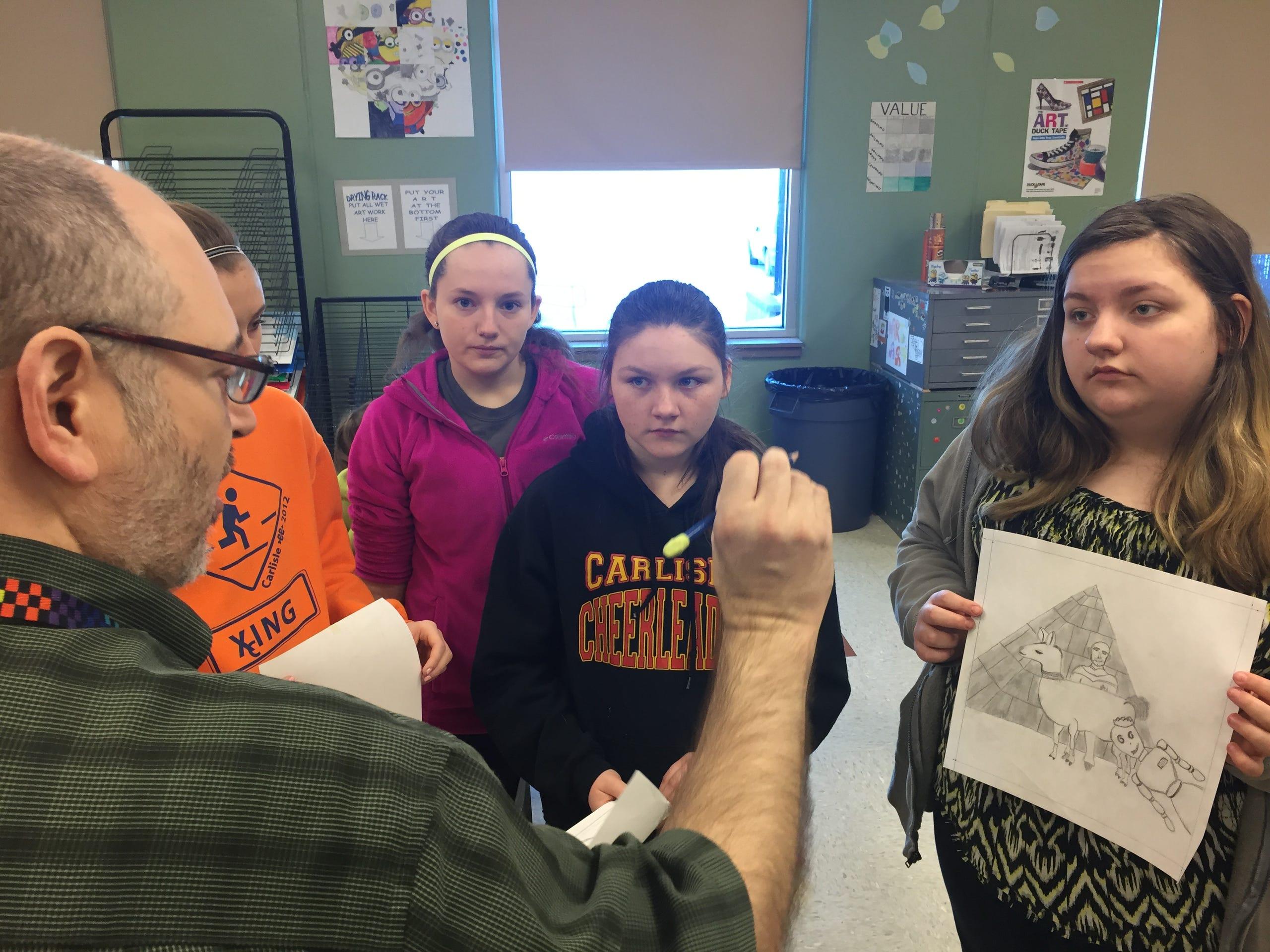 12 photos: Carlisle Middle School students draw photo bombs