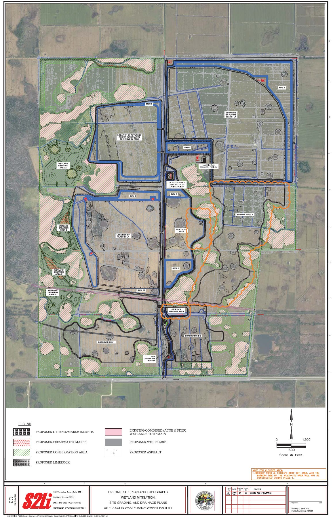Florida Intends On Permitting New West Brevard Landfill - Brevward map of us