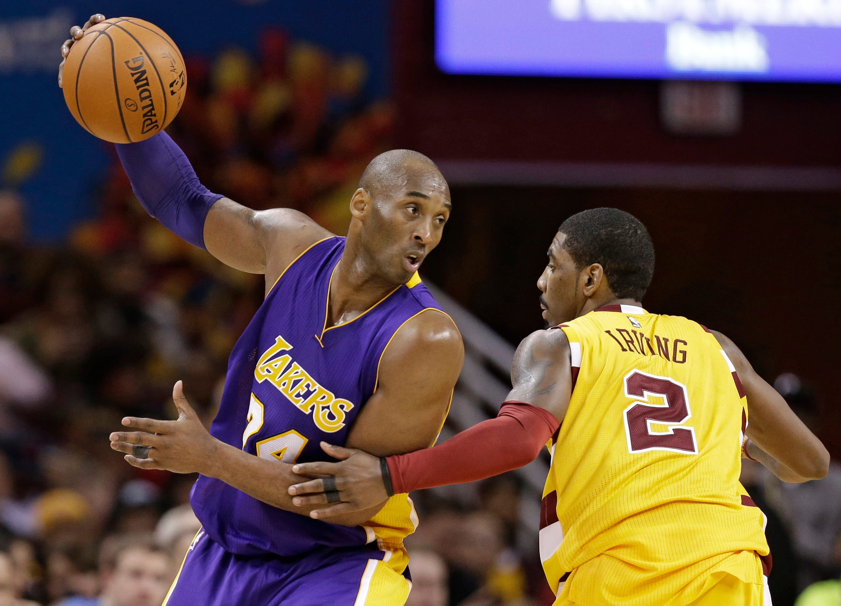 Kyrie Irving wants NBA to honor Kobe Bryant with new logo, which Vanessa Bryant approves