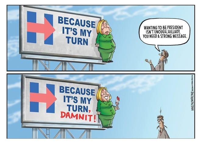 Hillary Clinton has a messaging problem.