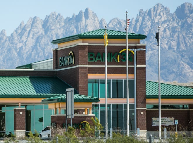 Pictured is the exterior of Bank 34 on Monday located at 220 N. Telshor Boulevard.