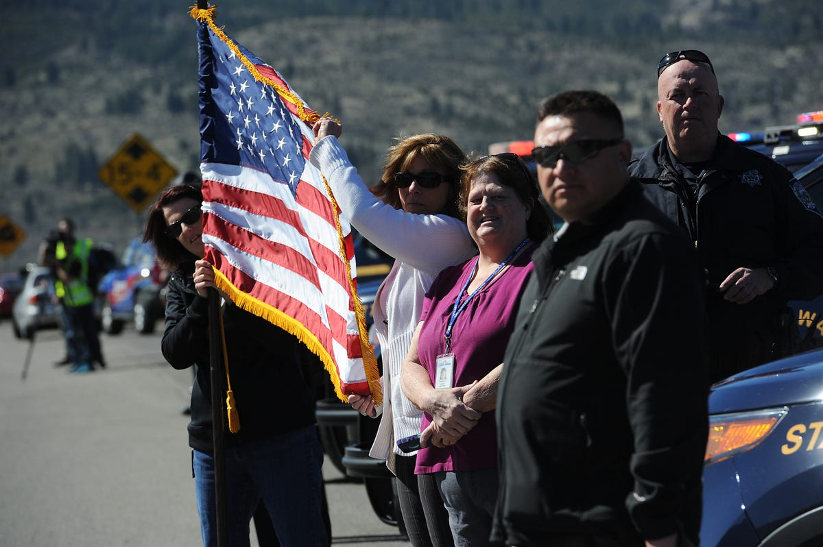 Troopers salute fallen CHP officer in procession