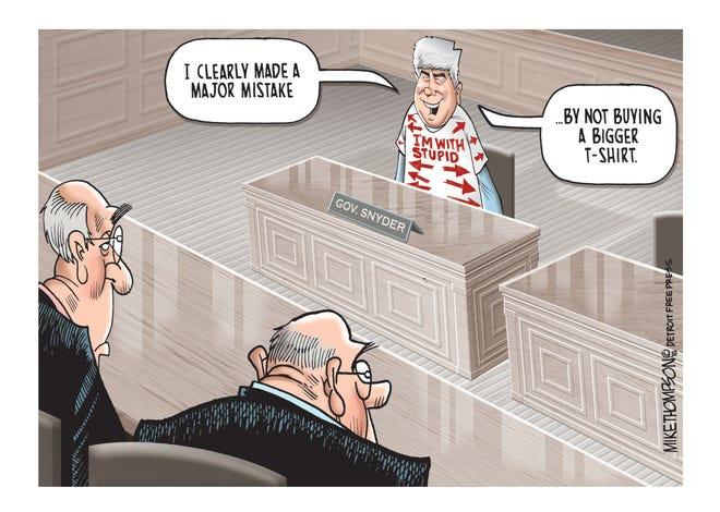 Michigan Gov. Rick Snyder testifies before Congress.