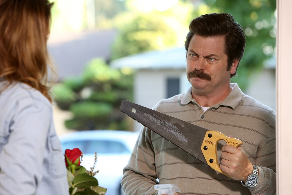 Nick Offerman Made Canoe Paddles For The Parks And Recs Cast