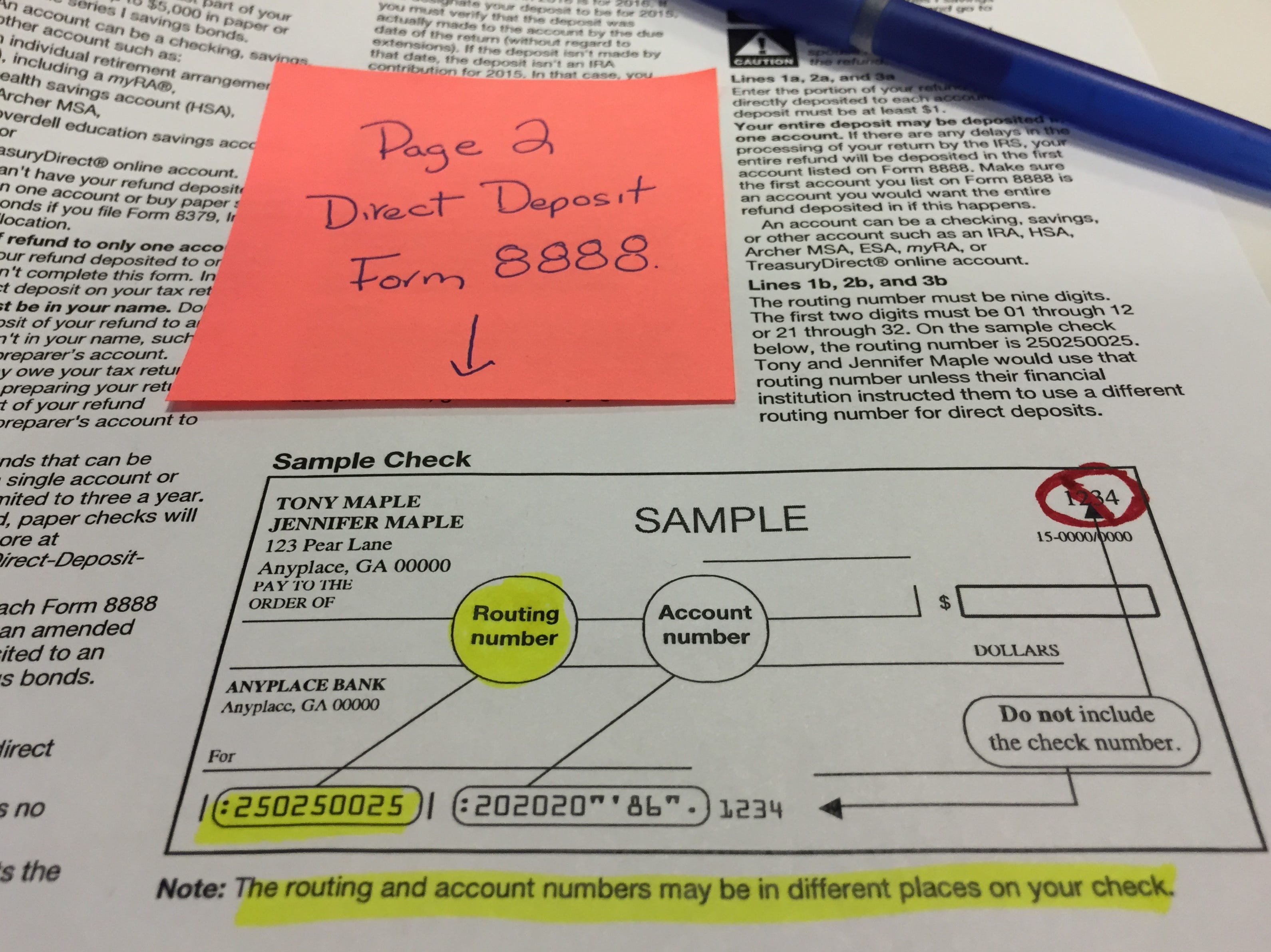 Direct deposit for tax refunds can go very wrong