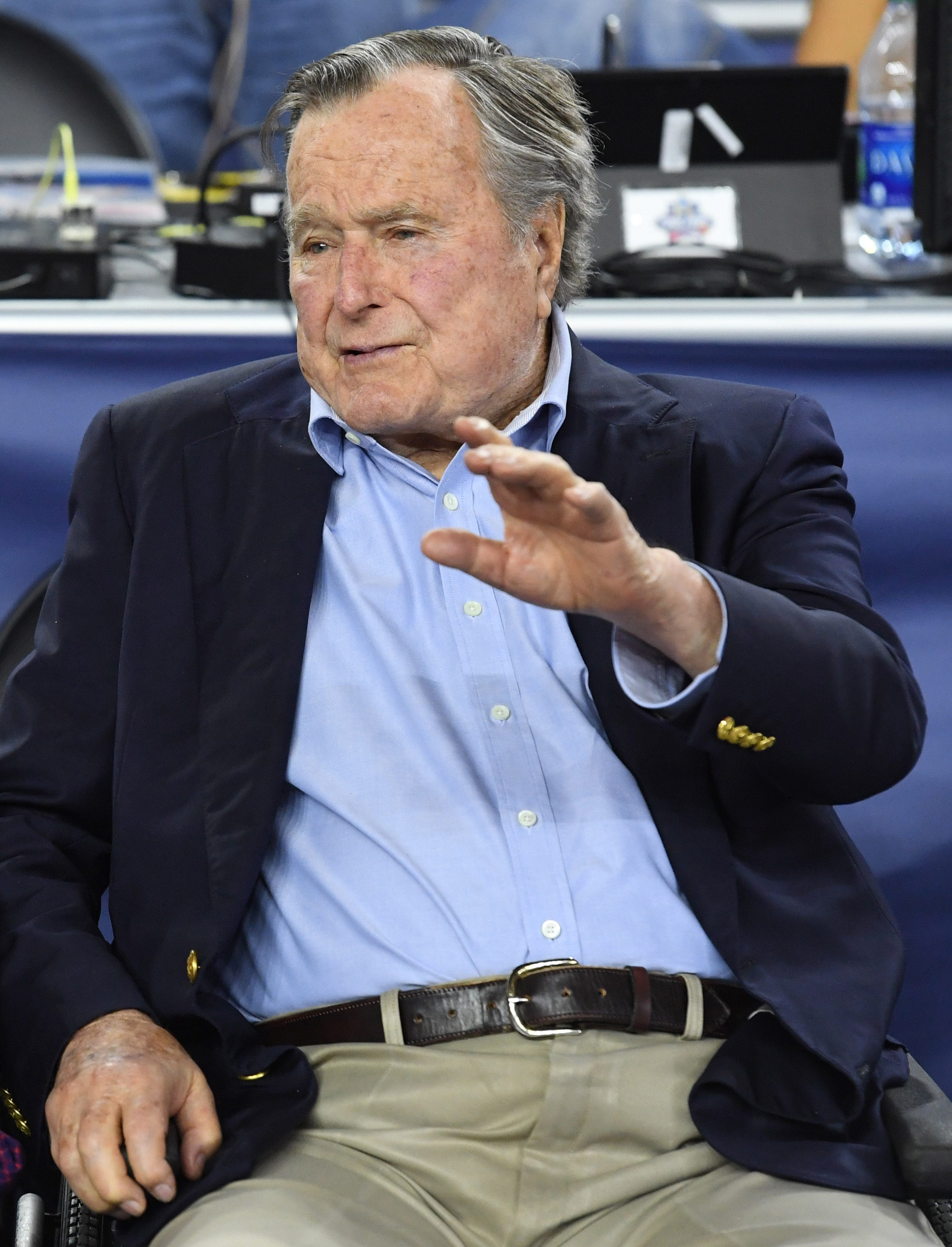 Former president George H. W. Bush on Hurricane Harvey: 'Our hearts are in Houston'