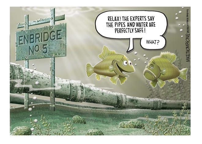 The worrisome Mackinac oil pipeline.
